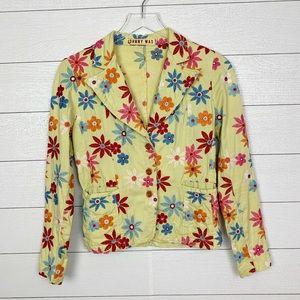 Johnny Was Embroidered Blazer
